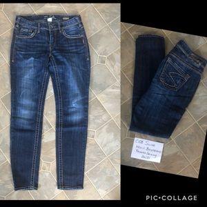 Silver Keelli Boyfriend relaxed skinny jeans